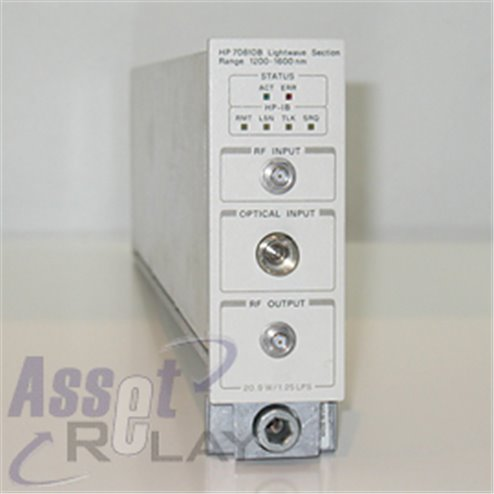 HP 70810B Lightwave Section
